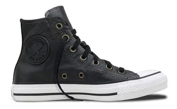 Zapatillas Converse All Star Bota Negro Cuero-envio Gratis!!