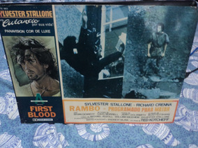 Lobby Card Cartaz Antigo Rambo Stallone Carimbo Censura Mod2