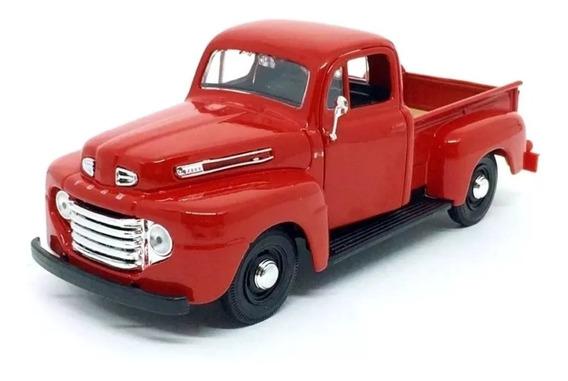 Miniatura Ford 1948 F-1 Pickup Vermelha Maisto Escala 1;25
