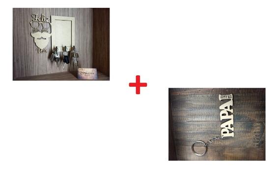Kit Porta Chaves Com Foto 10x15 + Chaveir Mdf - Dia Dos Pais