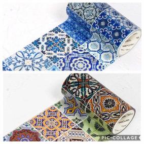 Washi Tape Fita Decorativa Azulejo Português Hidráulico