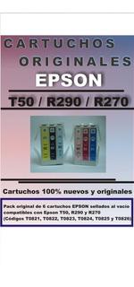 Cartuchos Epson T50 R290 R270 Originales