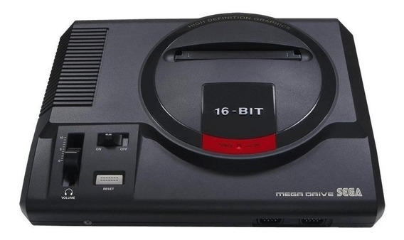 Console Sega Mega Drive preto