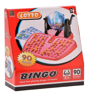Bingo Con Bolillero Cartones Bolillas Juego Familar Dia Niño