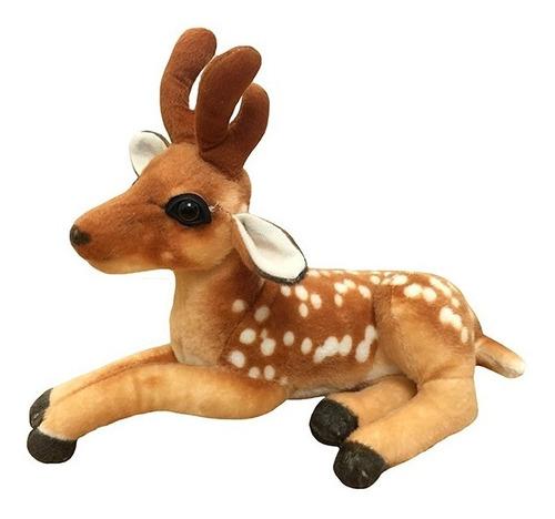 Peluche Animal Bambi Acostado 35 Cm. Phi Phi Toys