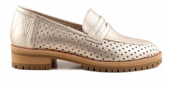 Mocasin Zapato Mujer Cuero Briganti Zapatos - Mcmo03634 Co