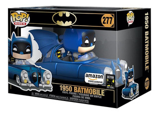 Funko Pop. Rides: Batman 80th Batmóvil Azul Metálico 1950,