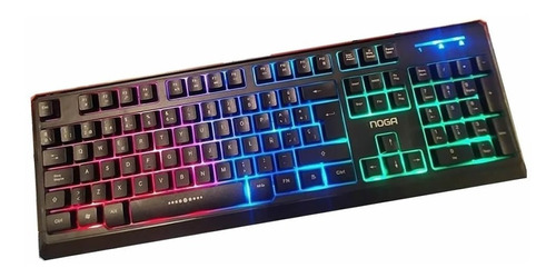 Teclado Gamer Pc Usb Retroiluminado Luces Led Noga Nkb-5020