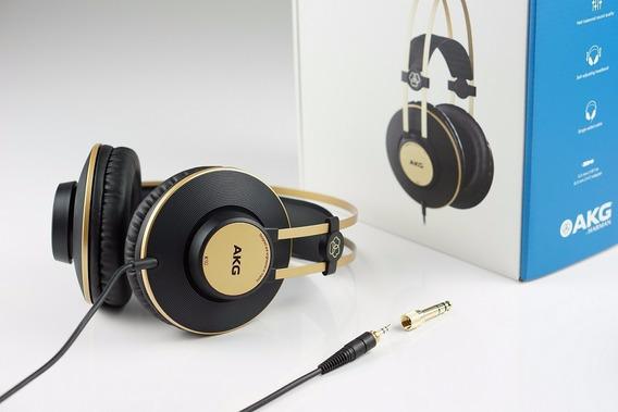 Fone De Ouvido Headphone Akg K92 Profissional Preto/dourado