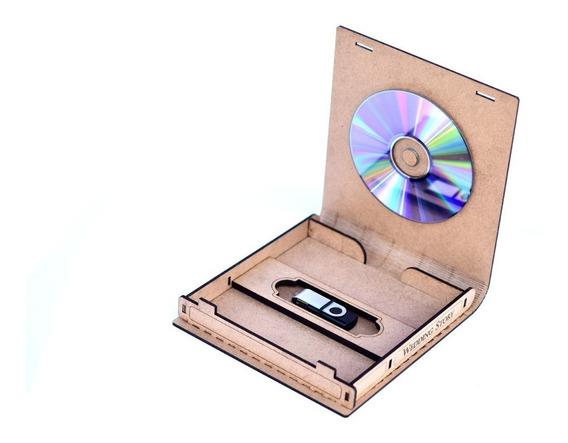Album Estojo Para Dvd E Pendrive Case Personalizado Dobrável