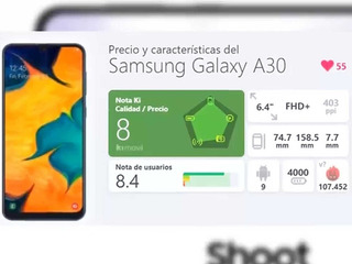 Celular Samsung Galaxy A30 Blanco, 32gb 3 Ram. Un Mes De Uso