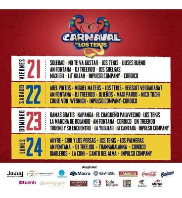 Entrada Para El Carnaval De Los Tekis 2020
