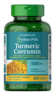 Turmeric Curcumin Bioperine Açafrão 500 Mg - 180 Capsulas