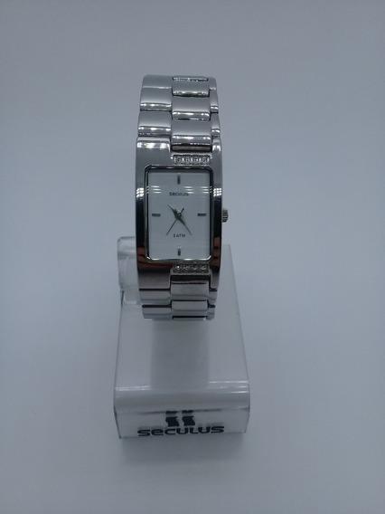 Relógio Seculus Feminino Quadrado 25501losbnb