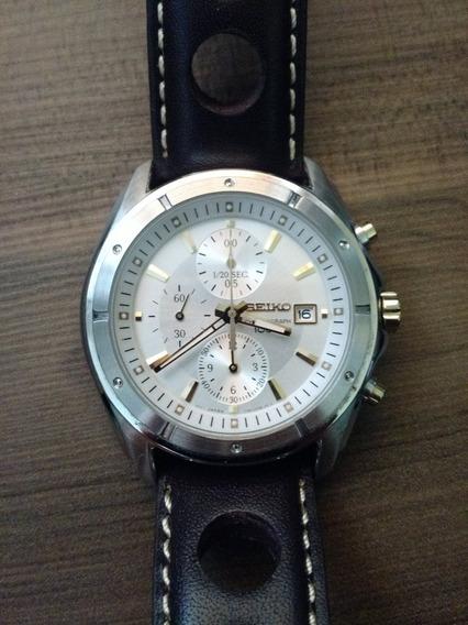 Relógio Seiko Chronograph 100m (+brinde Pulseira Couro)