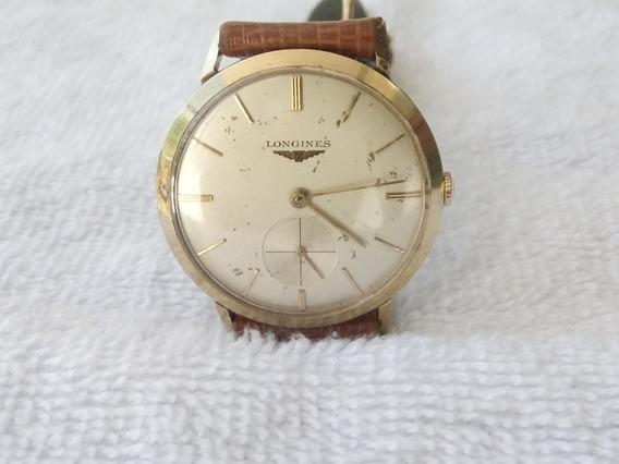 Reloj Longines De Cuerda Caja Gold Filled De Coleccion