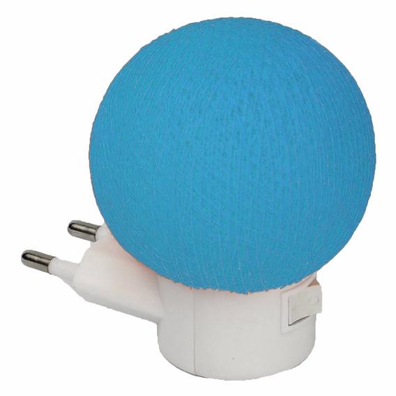 Luz Noturna De Led Night Light Artesanal Azul Claro P Quarto