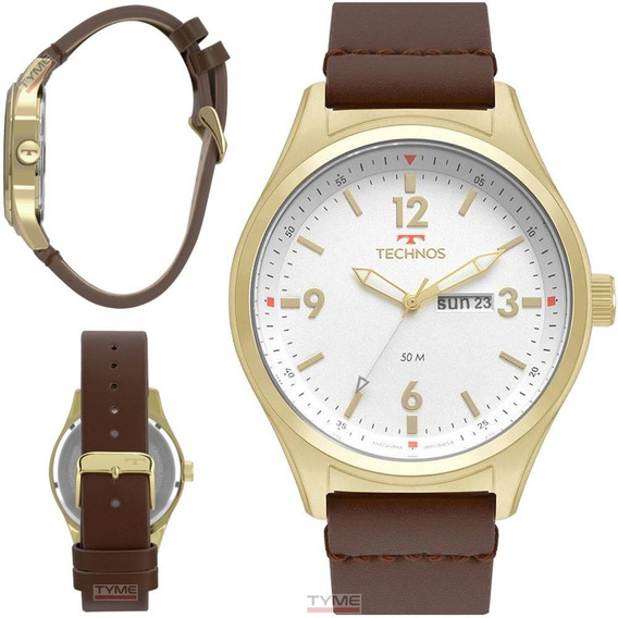 Relógio Technos Masculino Military 2105az/2b Dourado C/ Nfe
