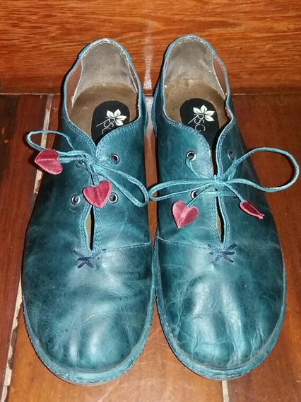Lindo Sapato Feminino De Couro - Tamanho 40