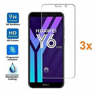 3x Screen Protector For Huawei Y6 2018 Tempered Glass Film