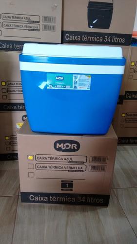 Caixa Térmica Mor 34 Litros Azul