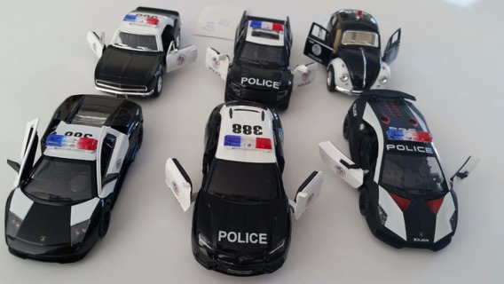 Miniatura Carrinho Policia Lamborghini (kit 6und) (cod.01)