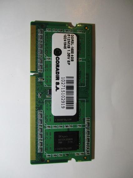 Memoria Ram 4gb Sodimm 1600 Mhz Ddr3 Coradir