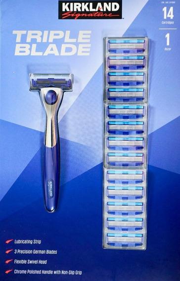 Triple Blade - Aparelho De Barbear Com 14 Cartuchos