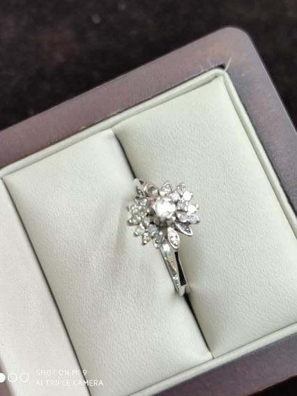 Anillo Paladio Hechura Especial Con Diamantes Naturales