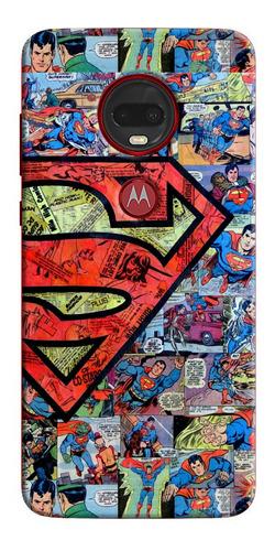 Funda Estuche Forro Super Man Collage Sony Nokia LG