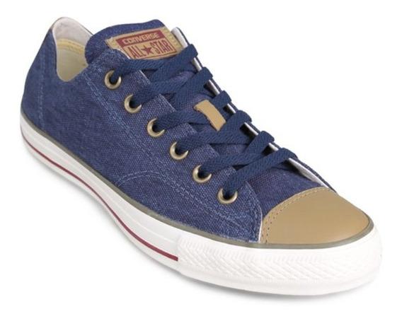 Zapatilla Converse Chuck Taylor Ox Lino Azul 148161b