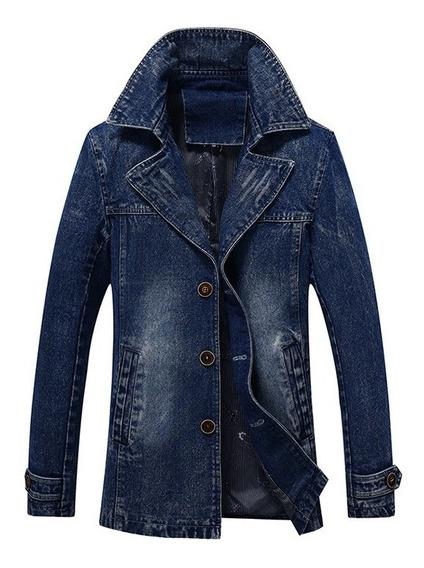 Jaqueta Jeans Sobre Tudo Estilo Britânico Direto De Fabrica