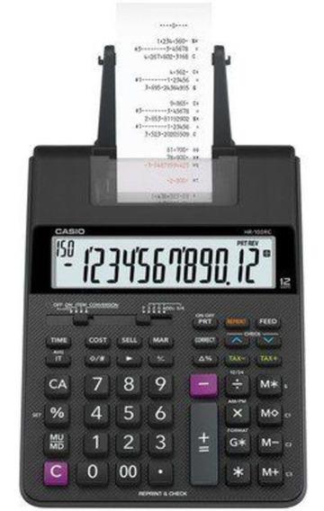 Calculadora C/ Bobina 2 Cores Impressão Hr-100rc-bk-b-dc