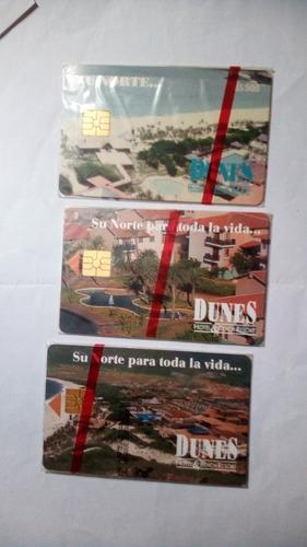Imagen 1 de 1 de Tarjetas Telefónicas De Colección Los 3 Dunes Nuevos