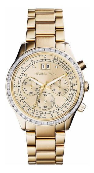 Relógio Michael Kors Mk6187 Brinkley Cristais Chronograph