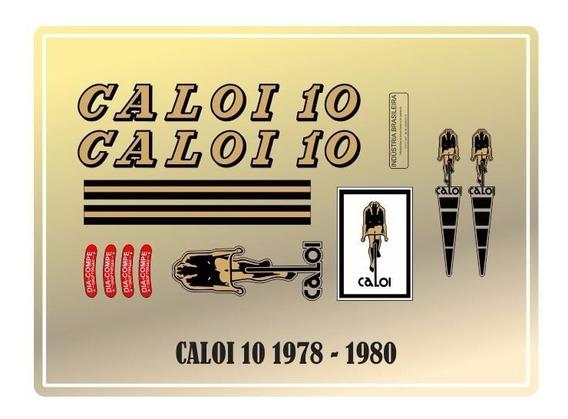 Adesivos Bicicleta Antiga Caloi 10 78-80 - Frete Grátis