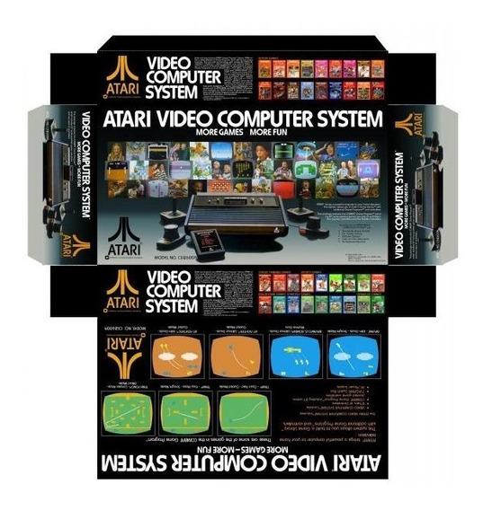 Arte Da Caixa Do Atari 2600 Original Americano Em Alta Resolução Para Imprimir
