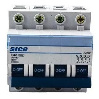 Termomagnética Tetrapolar Sica 63 Amp Llave Térmica 4x40