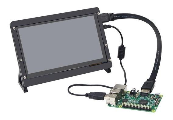 Tela Touch Lcd 7 Pol + Suporte 1024x600 Capacitivo Raspberry