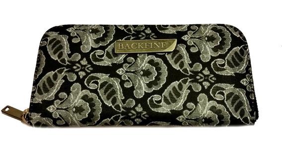 Billetera Backfine Orient - Fashion - Cuero Vacuno Y Tela