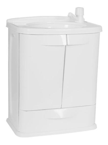 Gabinete Para Banheiro Plastico Com Pia Gabfit Branco