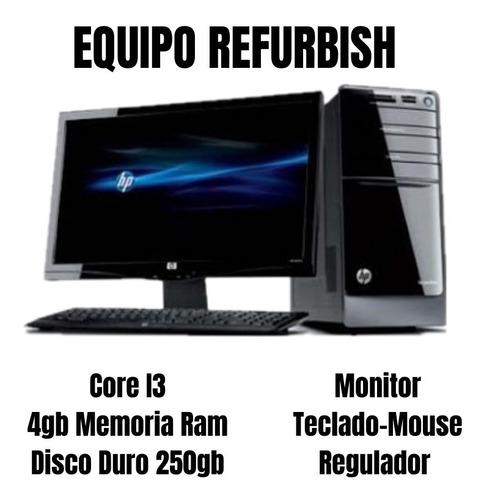 Imagen 1 de 1 de Equipo Refurbish Core I3 Con Monitor, Teclado, Mouse