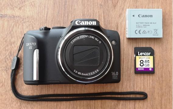 Câmera Fotográfica Canon Powershot Sx 170 Is 16mp