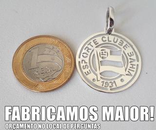 Pingente Esporte Clube Bahia Em Prata 925.