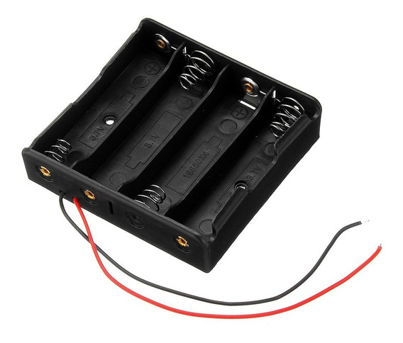 Suporte Case Porta 4 Baterias 18650 Para Arduino Esp8266