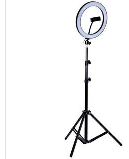 Aro De Luz Selfie Led Regulable 30 Cm Diámetro Usb + Base