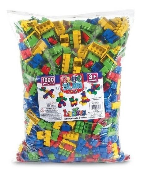 Blocos De Montar 1000 Peças Brinquedo Didático Infantil