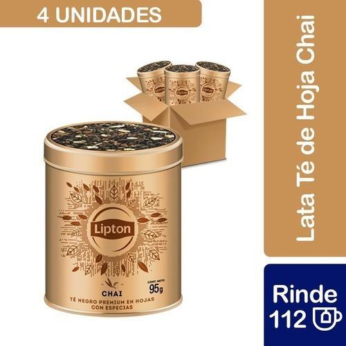 4 Tarros Lipton Té Chai Granel 95 G