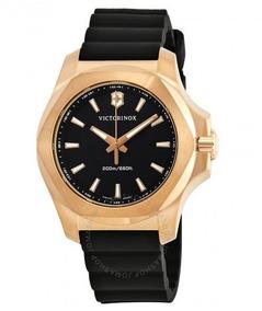 Relógio Victorinox Inox Feminino Diver Preto/douradoborracha
