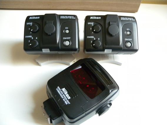 Nikon Flash Sb-r200(2)+ Commander Su-800(1) Kit Sem Fio! Top